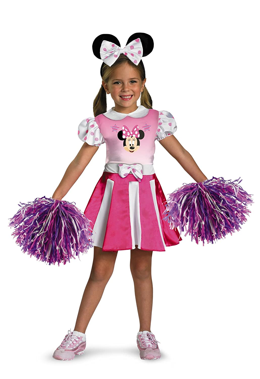 Amazon.com: Minnie Mouse Cheerleader Costume - Toddler Small(2T ...