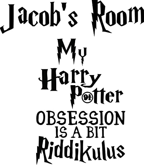 Amazon Com Movie Obsession Funny Quote Magic Fantasy Tv Character Designs Wall Decals Personalized Names Custom Name Create Wall Decals Decal Stickers Vinyl Art Decor Kids Decoration For Bedroom Size 20x20 Inch Home