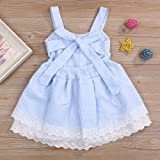 Toddler Girl Dress, Cool Summer Young Girl Blue