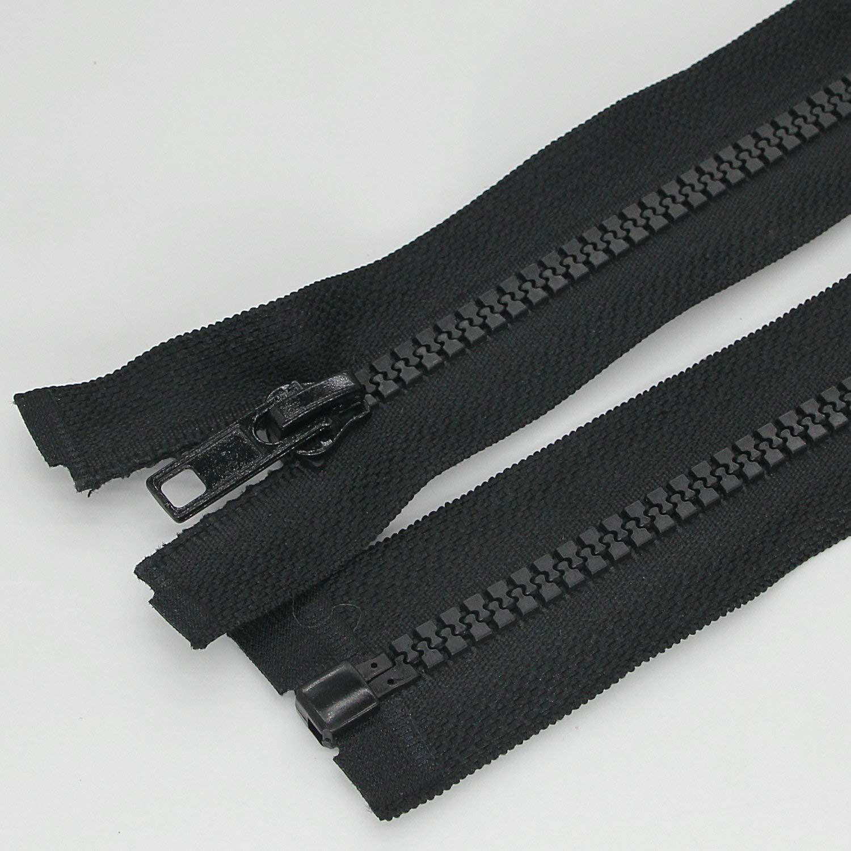 12 2pc 2PCS #5 12 Inch Separating Jacket Zippers for Sewing Coats Jacket Zipper White Molded Plastic Zippers Bulk Leekayer