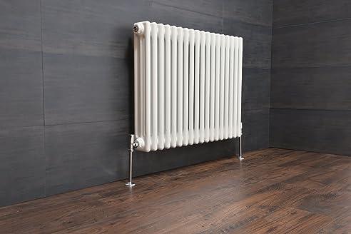 Traditioneller 3 Säulen Heizkörper Designer Heizung 600x830mm Weiß ...