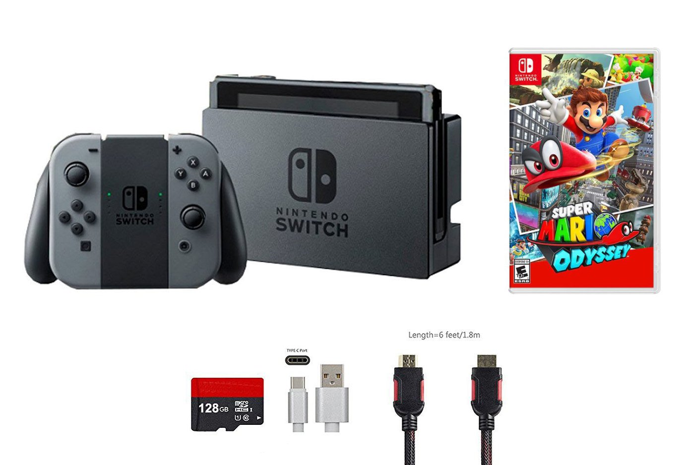 Amazon Com Nintendo Switch Bundle 5 Items 32gb Console