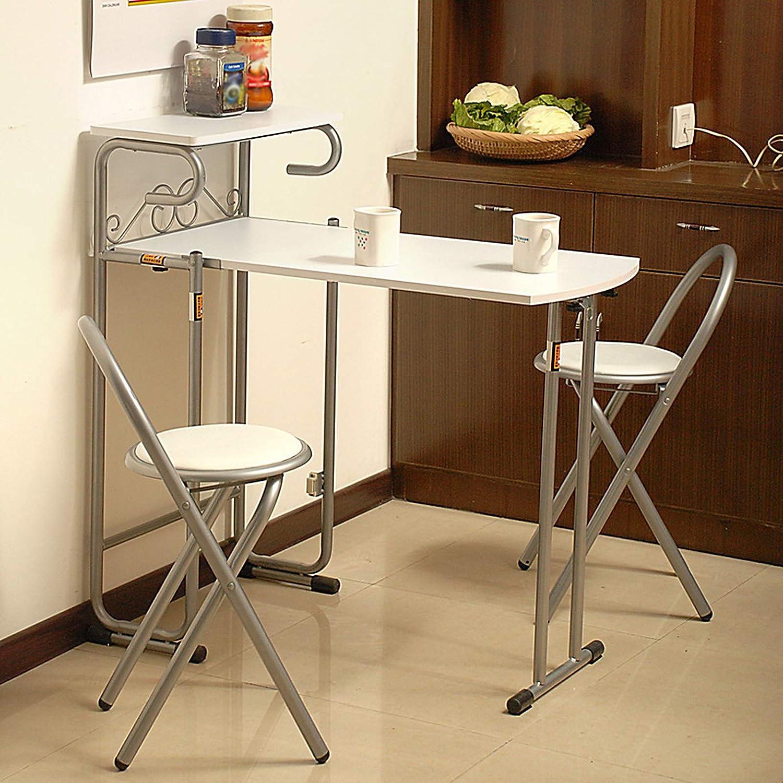 ZRN rektangulärt ljus hem hopfällbart bord för 2-3 personer Vitt