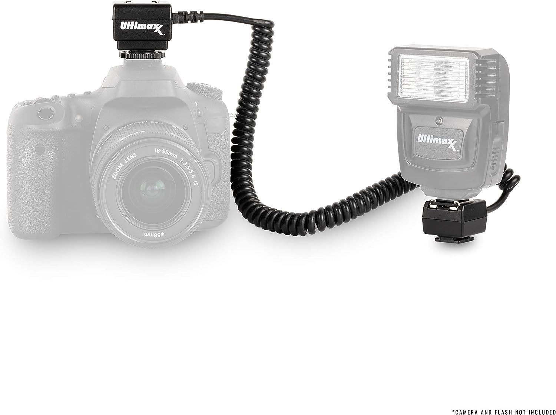 D750 D5200 Durable TTL Off-Camera Flash Shoe Cord for Nikon D7500 D600 D610 D850 D5500 D3300 D3100 D5100 Ultimaxx/'s 180 Degree Rotating Flash Bracket with 6 ft D810 Extended D800 D3400