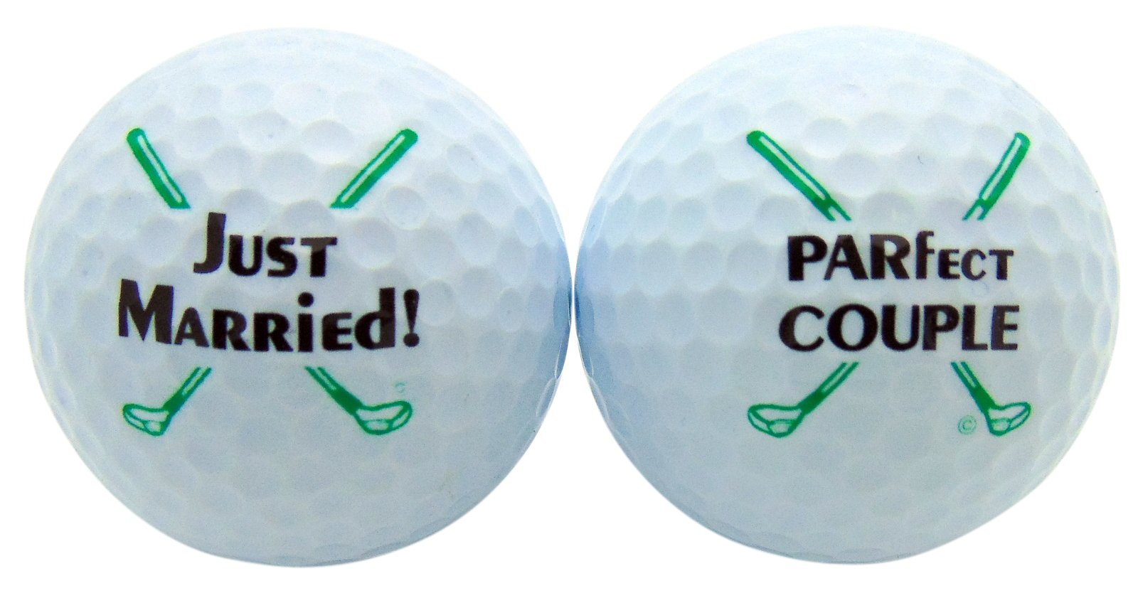 Just Married Newleywed Golf Balls Gift Boxed Two Ball Set by Westman Works (Image #1)