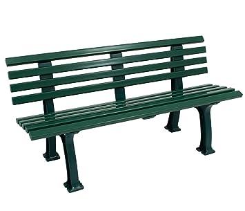Panchina In Plastica Verde.Resistente Alle Intemperie Panchina 3 Posti Plastica Colore Verde