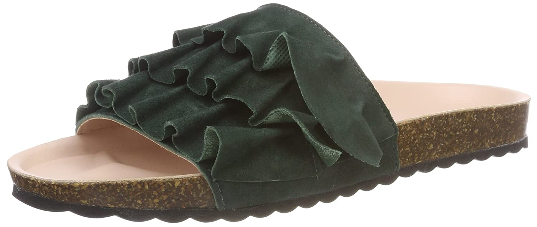 Esprit Lisa Slide, Mules para Mujer 36 EU|Verde (Dark Green)