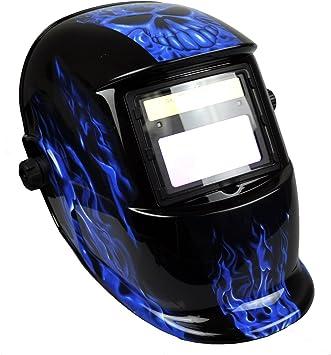 #13 Instapark ADF Series GX-500S Solar Powered Auto Darkening Welding Helmet with Adjustable Shade Range #9 Blue
