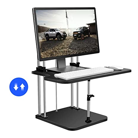 Amazoncom Standing Desk SMONET Sit to Stand Desk Convert Any