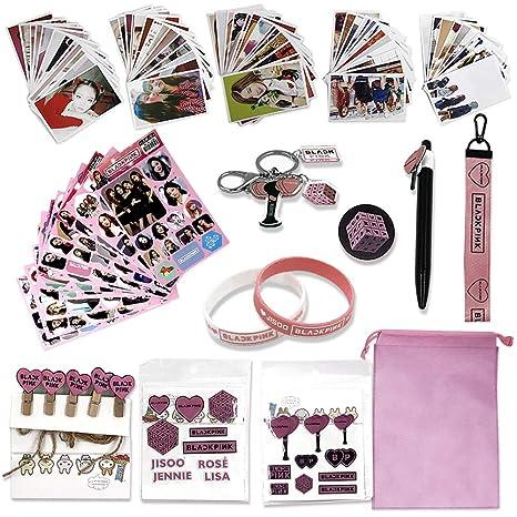 Fatyi Blackpink Set de regalo con tarjeta de lomo, llavero ...