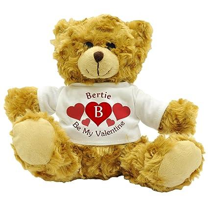 Bertie – ser mi San Valentín – personalizado amor en inglés oso de peluche regalo (