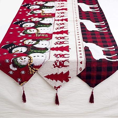Lypum - Camino de Mesa de Navidad, Bordado de algodón, diseño de ...