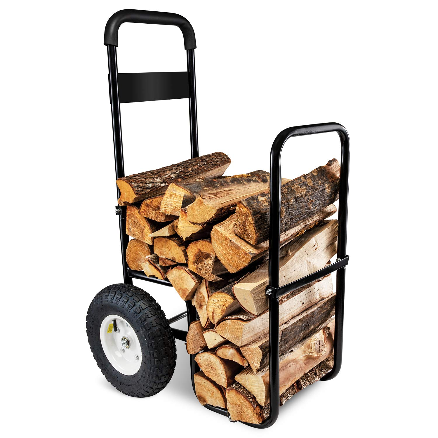 Firewood Log Hauler Log Carrier Log Cart Carrier Wood Rack Storage Mover for Outdoor and Indoor with Included Cover by RightHand