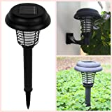 2018 Upgraded Solar-Powered Mosquito Killer, Bug Zapper, Insect Bug Worm Killer, Garden LED Light Lawn Camping Lamp