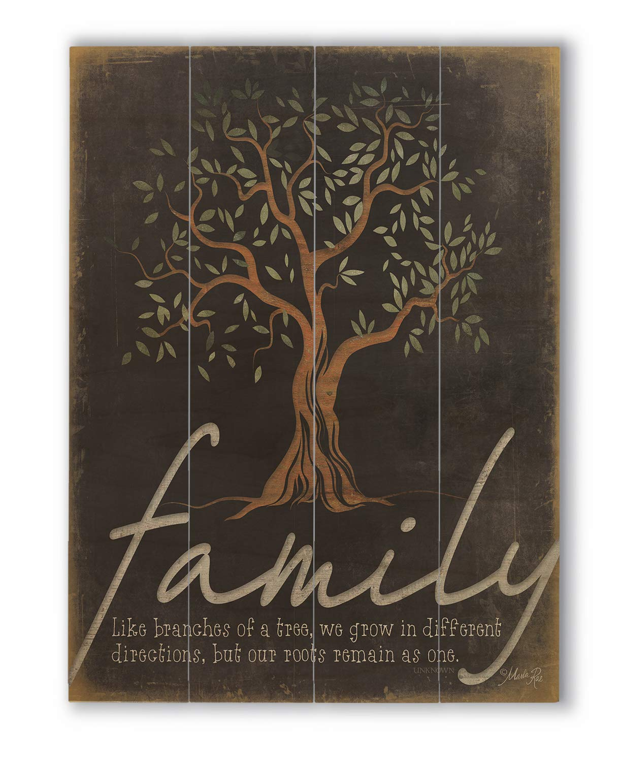 Wallsthatspeak Family Tree Wall Quote Wood Pallet Decor Rustic Farmhouse Print 12 X 16
