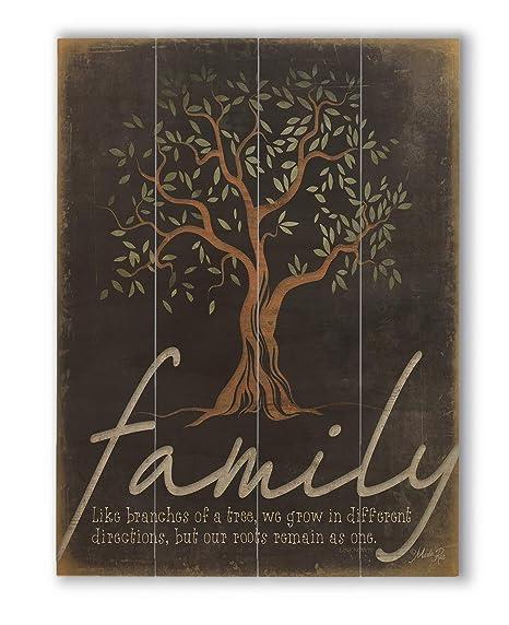 "wallsthatspeak Family Tree Wall Quote, Wood Pallet Decor, Rustic Farmhouse  Print (12"" x 16"")"
