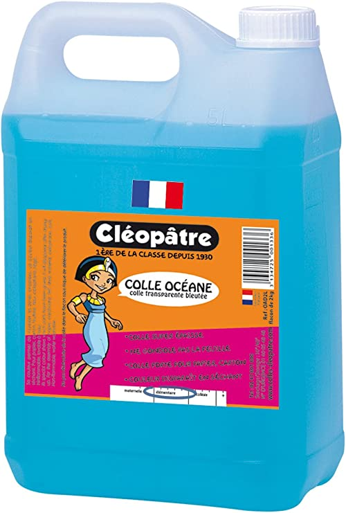 Cleopatre - OAD5L - Oceane - Pegamento azulado fuerte, 5 kg: Amazon.es: Oficina y papelería