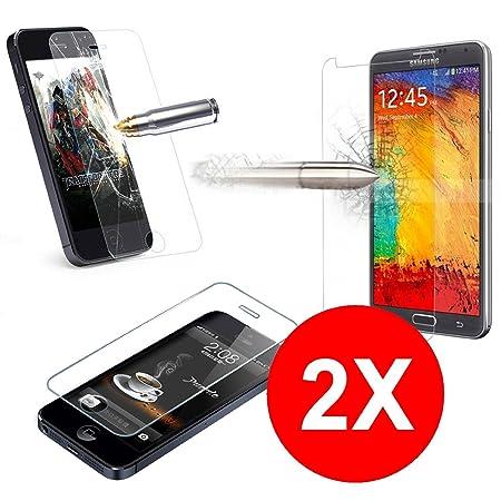 TBOC® 2X Hartglas Schutzfolie für Alcatel One Touch Pop C7 (Zwei Einheiten) Panzerglas Displayschutz in Kristallklar 9H Displ