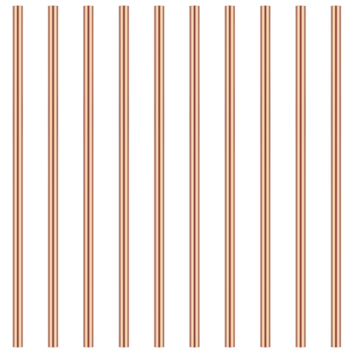 3mm Copper Round Rod 3mm in Diameter 100mm in Length Favordrory 10PCS Copper Round Rods Lathe Bar Stock