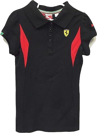 Amazon.com: PUMA Ferrari Girl's Polo Shirt Black (Medium ...