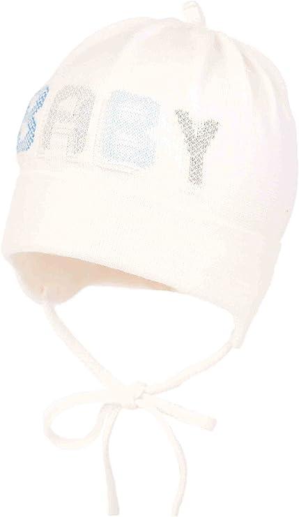 Baby Boy - Gorra de algodón para recién nacido, bautizo, capucha de bautismo 0 3 6 9 12 meses (recién nacido 38 cm, crema): Amazon.es: Bebé