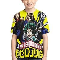 My Hero Academia T-Shirt Camiseta para NiñO Camiseta con Estampado GráFico 3D Camiseta De Manga Corta De Verano para…