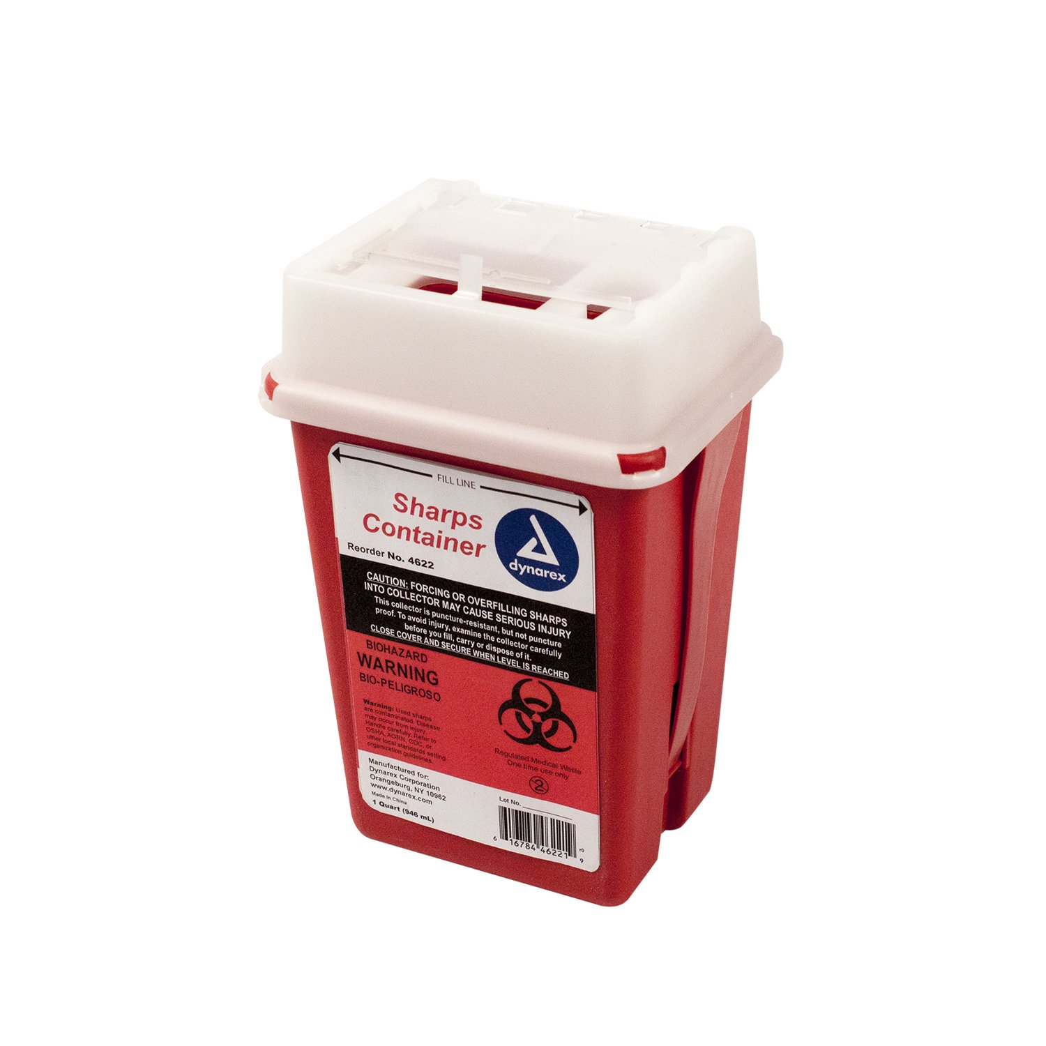 Sharps Container 1 Quart - Plus Vakly Biohazard Disposal Guide (5 Pack) by Vakly (Image #1)