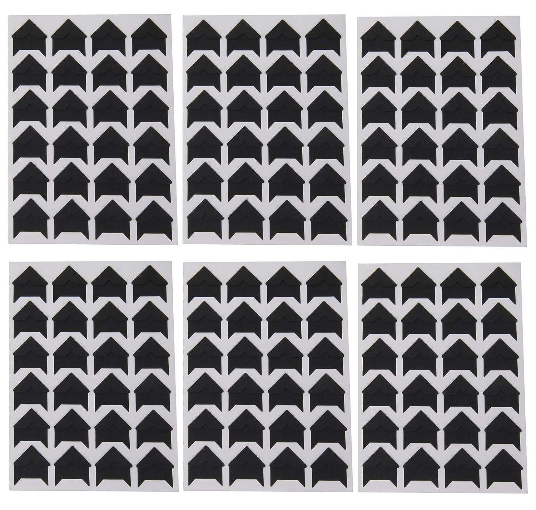 Black UPSTORE 6Sheets Retro DIY Photo Album Accessories Peel-Off Paper Photo Corner Stickers Pictures Mounting Corners for Scrapbook Album Personal Journal Dairy Organizer Notebook 144PCS