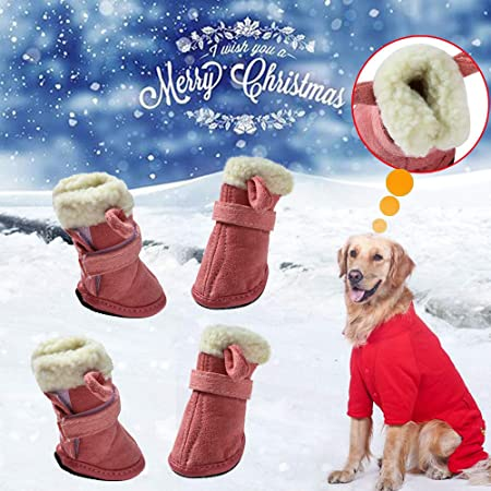 Glumes Pet Dog Boots Christmas Elk Ear