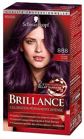 Couleur burgundy sur cheveux noir