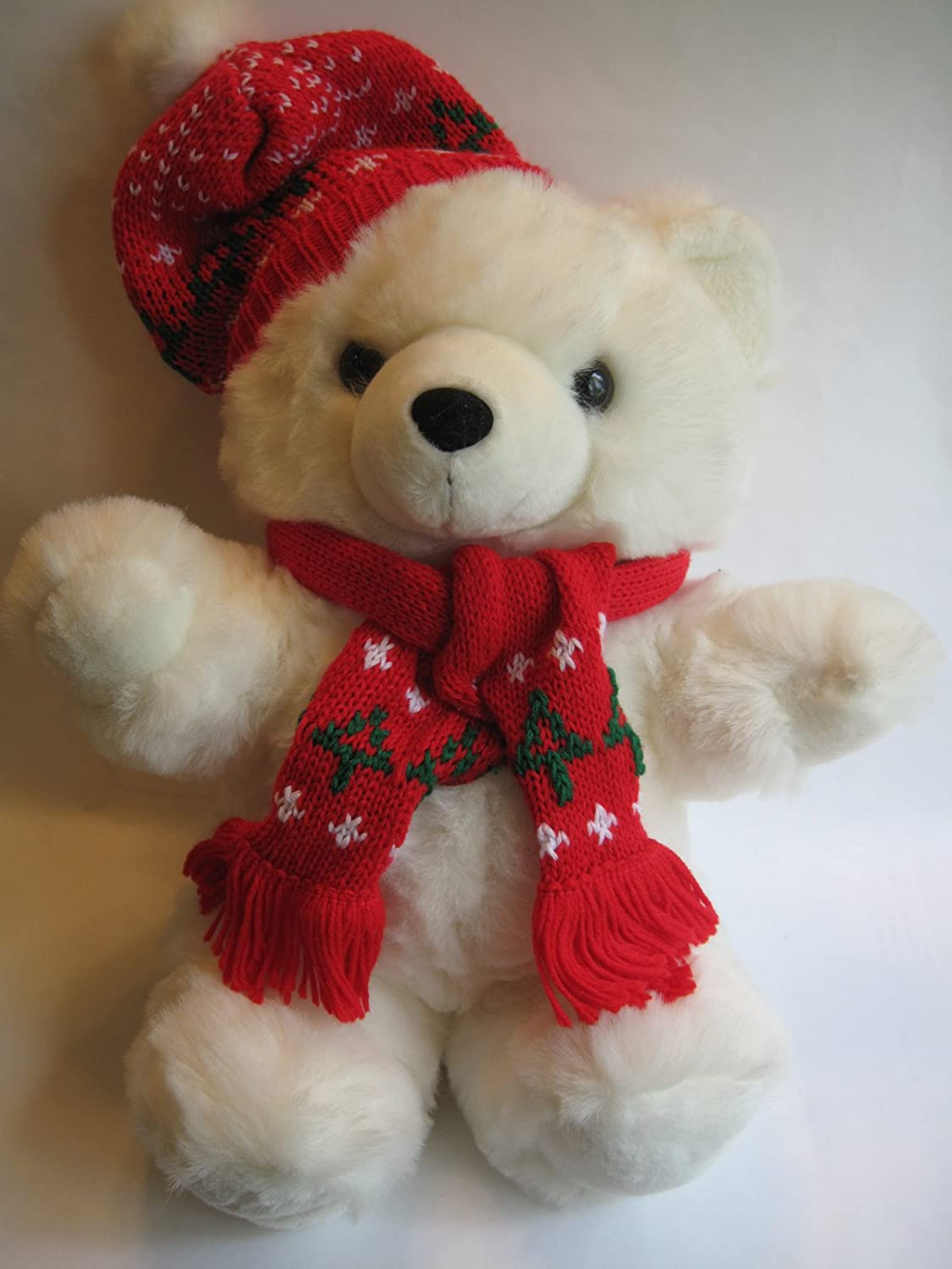 Amazon.com: 1996 Christmas Plush Teddy Bear Kmart 10th Anniversity ...