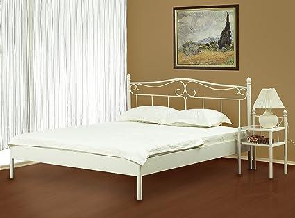 Cama de 200 x 200 Liana blanco juego completo - somier 2 x ...
