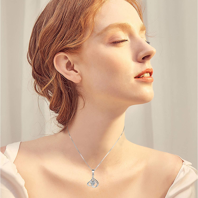 Anniversaire de Mariage Cadeaux pour Les Femmes Maman /épouse Amilril Cadeau damour Collier Femme Mode 925 Sterling Argent Bijoux