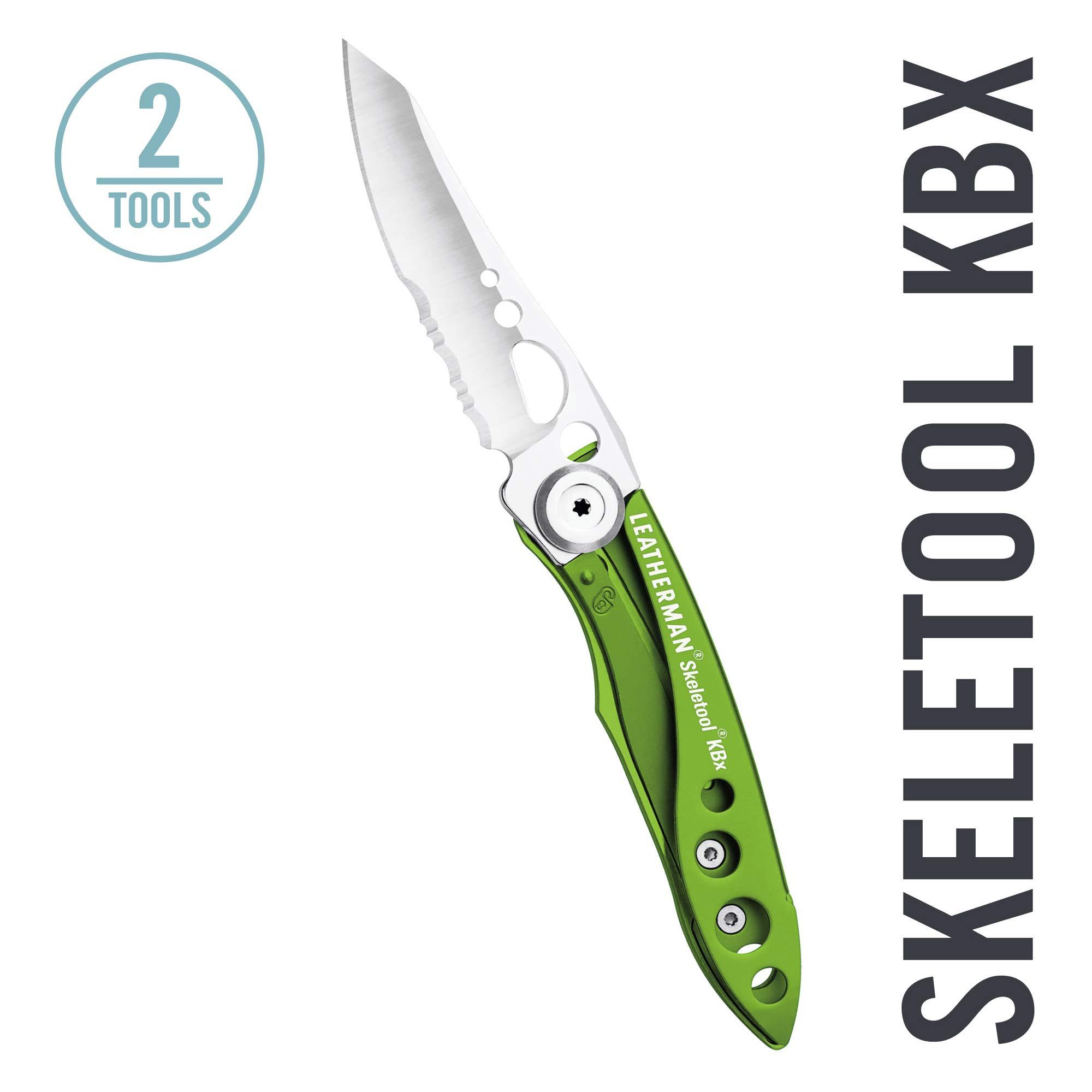 LEATHERMAN - Skeletool KBX Pocket Knife with Bottle Opener, Moss Green by LEATHERMAN (Image #1)