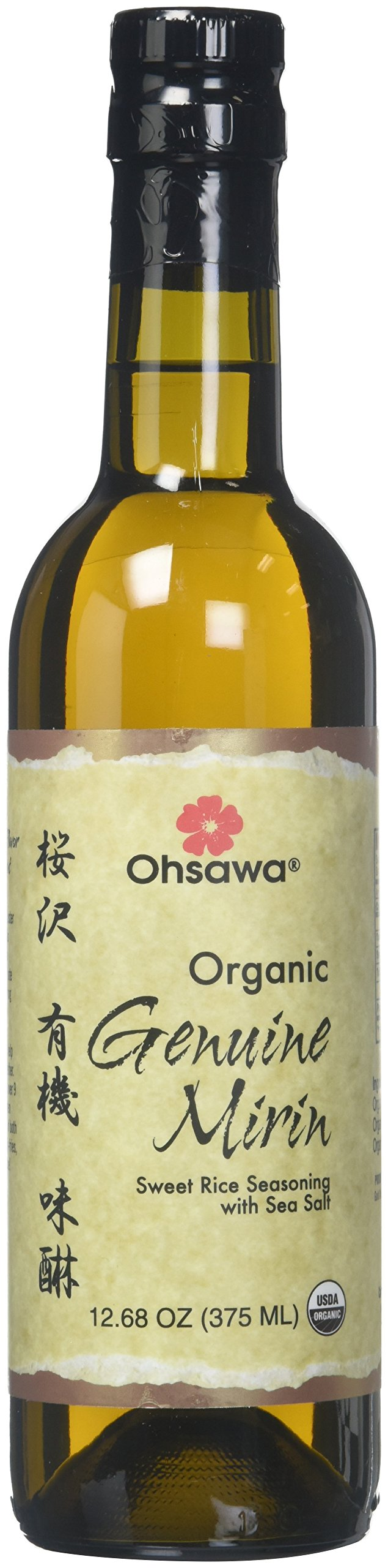OHSAWA Genuine Mirin Sweet Rice Seasoning With Sea Salt Organic, 375 ML