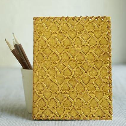 b/úho amarillo storeindya Regalos 8x 6 Diario de viaje hecho a mano de cuero Diario de viaje Cuaderno de bocetos Planificador Doodle Libro