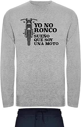Pijama para Hombre Ronco sueño Moto Muy Comodo Ropa Dormir de Algodon