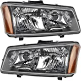 Driver and Passenger Headlights Headlamps Replacement for Chevrolet Pickup Truck 10396913 10396912