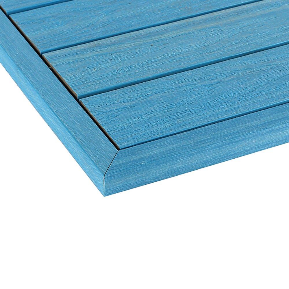 NewTechWood us-qd-ot-zx-sb 1 / 6 x 1 ft。クイック複合デッキタイルエンドコーナー鼻隠し外側でCaribbean Blue ( 2-pieces /ボックス) B0767LVQXR