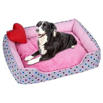 Amazon.com: Cama acolchada para perro, resistente al agua ...