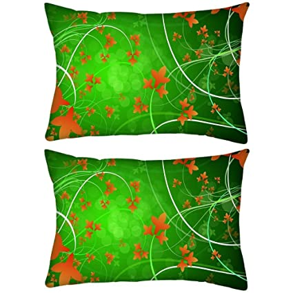 buy pack of 2 swirly plants rectangle toss throw pillow cushion