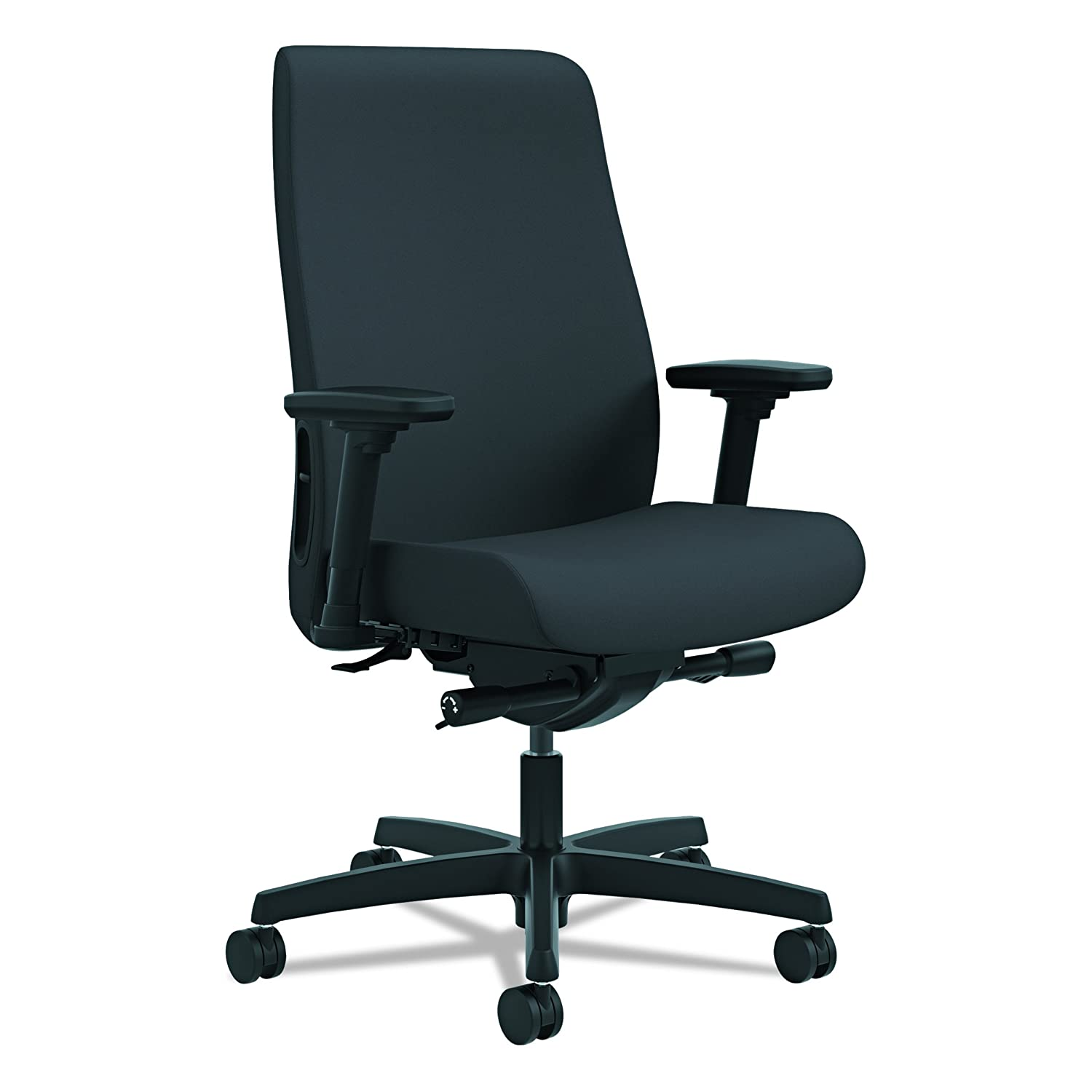 Amazon.com: HON Endorse Mid-Back Task Chair- Upholstered Computer Chair for  Office Desk, Black (HLWU): Kitchen & Dining