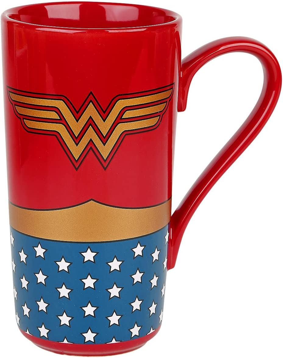 Wonder Woman Taza Desayuno, Cerámica: Amazon.es: Hogar