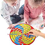 Wondertoys Number Magnetic Maze Puzzle Toddler Toys for Children Wooden Easel Board Game