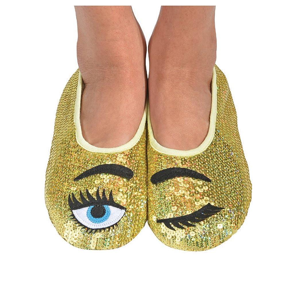 Snoozies Womens Eye Candy Bling Slipper Socks SNZ-WEC-PSKU