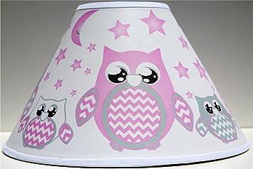 Amazon Com Pink Owl Lamp Shade Children S Woodland Forest Animal