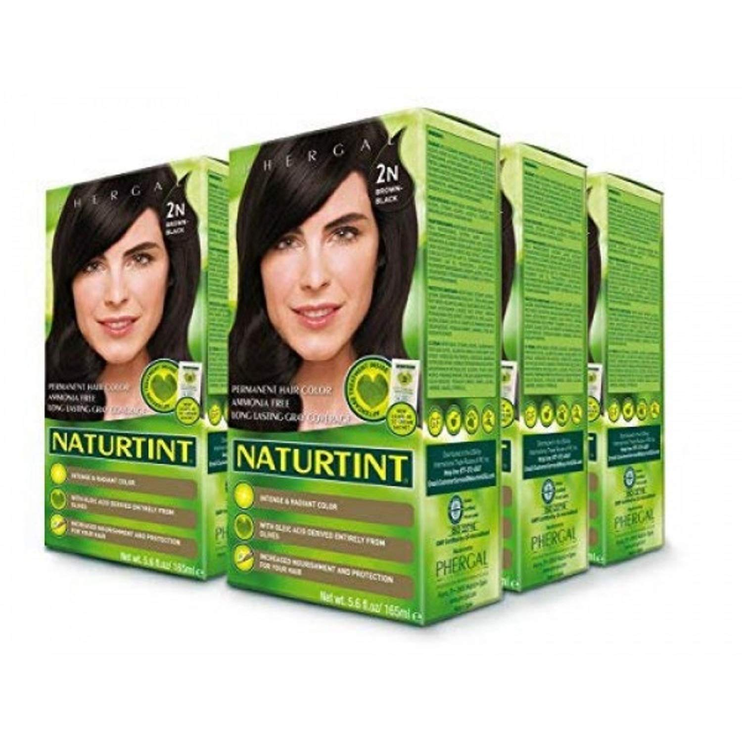 Naturtint Permanent Hair Color 2N Brown Black (Pack of 6), Ammonia Free, Vegan, Cruelty Free, up to 100% Gray Coverage, Long Lasting Results