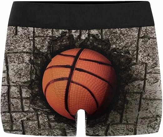 INTERESTPRINT Mens Boxer Briefs Sports Basketballs XS-3XL