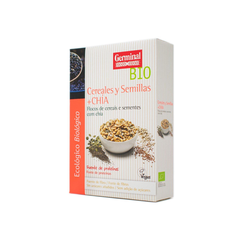 Germinal Copos de Cereales y Semillas de Chía - 250 gr: Amazon.es ...