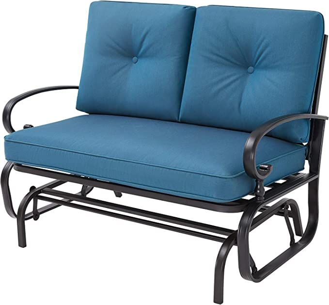 Oakmont Outdoor Loveseat Patio Swing Rocking Glider - Best For Gliding